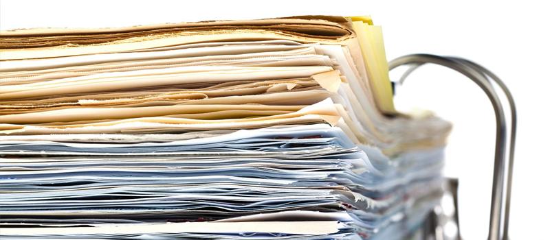Stack of folders -
